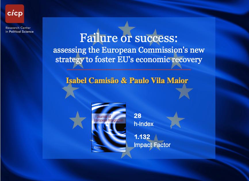 Isabel Camisão (CICP) e Paulo Vila Maior publicam no Journal of European Integration