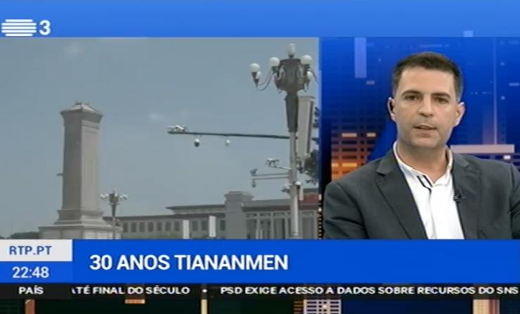 Paulo Duarte na RTP3 comenta os 30 anos do Massacre de Tiananmen