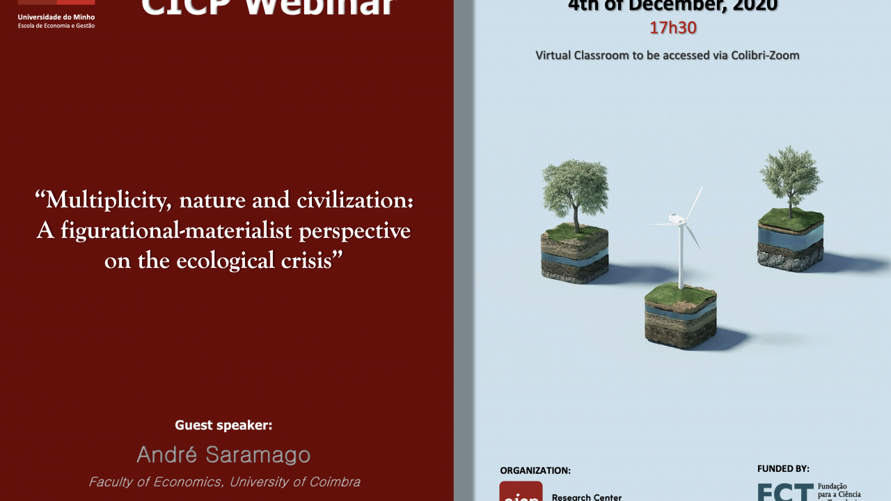 "Webinário ""Multiplicity, nature and civilization: a figurational-materialistic perspective on the ecological crisis"""