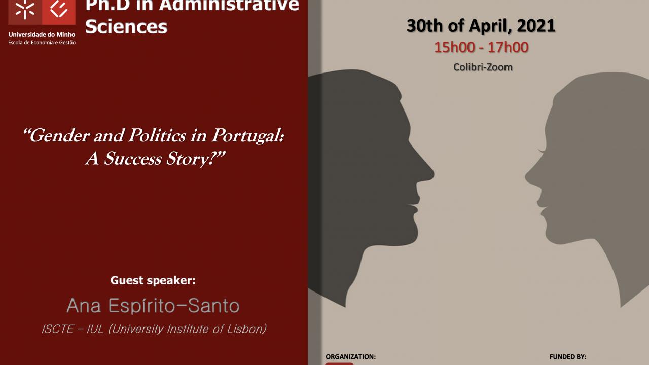 """Seminário Temático """"Gender and Politics in Portugal:A Success Story?"""""""