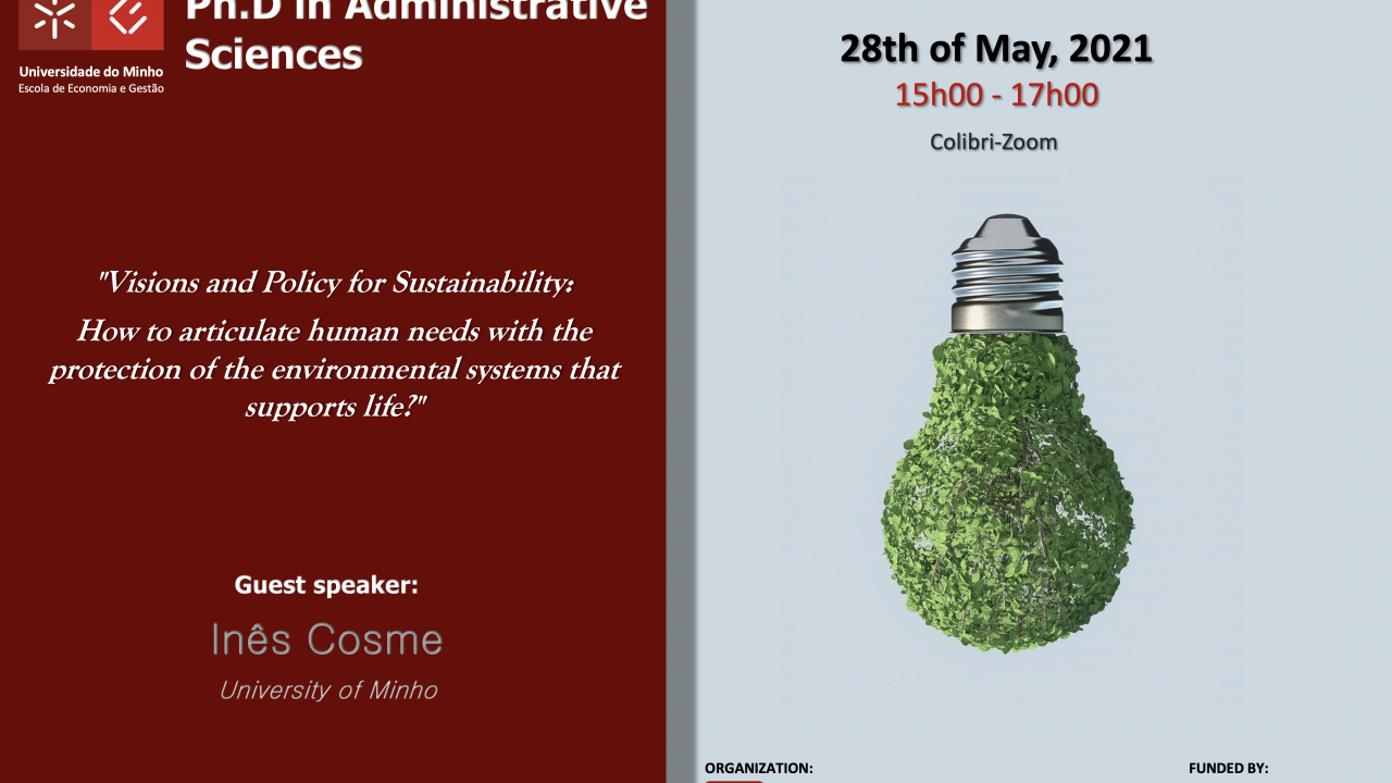 "Seminário Temático ""Visions and Policy for Sustainability"""